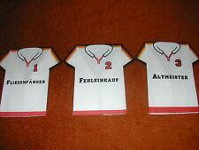 3 Sevietten / stoffähnlich / T-Shirt / Fußball / Triko / Dress / witzig