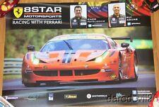2013 8 Star Motorsports Ferrari 458 Italia GT2 GTE-AM WEC poster