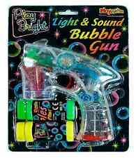 LIGHT SOUND BUBBLE GUN Bubbles Maker Machine Launcher Garden Kids Outdoor Toy