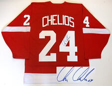 CHRIS CHELIOS SIGNED RED WINGS 2002 STANLEY CUP JERSEY