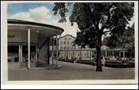 Bad Elster Sachsen alte DDR Postkarte 1950/60 Partie am Badeplatz Anlagen Baum