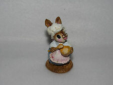 """""""BATTER BUNNY"""" 1977 WEE FOREST FOLK FIGURE - B09 - A PETERSEN - ETCHED INITIALS"""