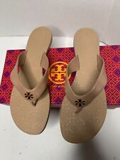 Tory Burch Monroe Leather Thong Sandals Vega Napa Size 9.5