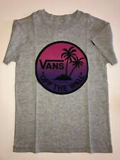 Vans New Dual Palm Gradient Fill Short Sleeve T-Shirt Boy's Youth 5/M Gray