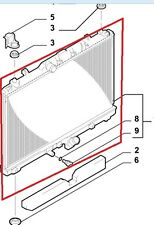 Radiatore acqua Fiat Sedici 2006-2011 originale 71746849