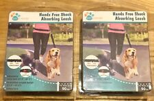 New listing 2 New Pet Trends Hands Free Shock Absorbing Dog Leash- dogs up to 90 pounds