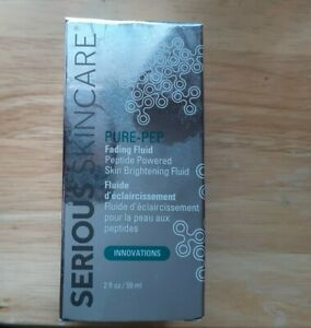 Serious skincare Pure Pep Fading Fluid Peptide powered Skin Bightning fliud-2 oz