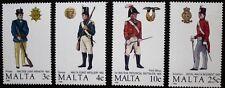 Maltese uniforms, (2nd series) stamps 1988, Malta, SG ref: 832-835, 4 stamps MNH