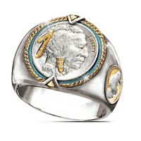 925 Silver Animal Band Ring Women Men's Buffalo Wedding Party Jewelry Size 6-13