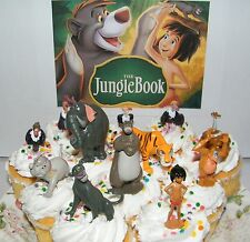 Disney The Jungle Book Cake Toppers Set of 13 Figures Shere Khan, Baloo, Kaa Etc