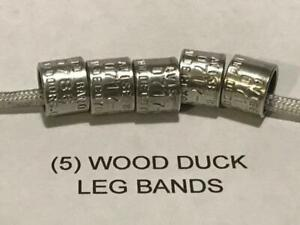 5 (FIVE) - Decoy Outdoors WOOD DUCK Bands, Add to Duck Call Lanyard, Duck Mount