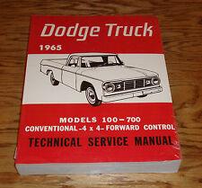 1965 Dodge Truck Service Shop Manual 65 Models 100-700