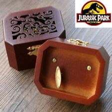 COLLECTIBLE  OCTAGON CARVING MUSIC BOX ♫ JURASSIC PARK  ♫