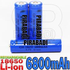 3 PILE ACCU RECHARGEABLE 18650 LI-ION 3.7v 6800mAH BATTERY BATTERIE • PRO •