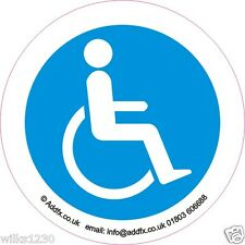 2x Disabled driver Blue Mobility Badge self adhesive vinyl sticker car van bus