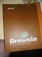 The Official Girl Scout Brownie Handbook Guide Girl Scouting Book Binder  used
