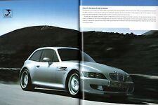 BMW M3 M5 Z3M Roadster Z3M Coupe 2000-01 UK Market Sales Brochure
