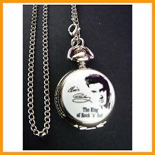 Elvis Presley Child Women Ladies Girl Men Fashion Pocket Pendant Necklace Watch