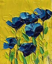 MARINA REHRMANN Flower Boutiqe Glass Vase Original Painting Impressionism Art 🧿