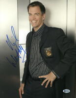 MICHAEL WEATHERLY SIGNED 11X14 PHOTO NCIS AUTHENTIC AUTOGRAPH BECKETT COA B