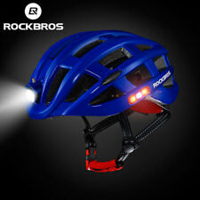 ROCKBROS Ultralight Cycling Road Bike MTB Helmet with Light Size 57-62cm Blue