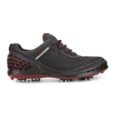 Ecco Mens Cage Golf Shoes Black Brick Extra Width Option Size 41 (UK 7.5)