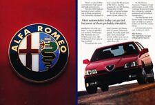 1991 Alfa Romeo 164S 164 - 2-page - Original Advertisement Car Print Ad A20-B