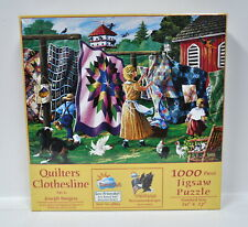 Quilters Clothesline Jigsaw Puzzle 1000 Piece