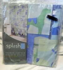 "New Splash Home Shower Curtain Blue Dogs Vinyl  70"" x 72"" Bed Bath Beyond"