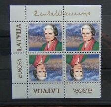 Latvia 1996 Europa Famous Women in block x 4 MNH SG441