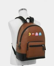 COACH 72915 PAC-MAN WEST BACKPACK REFINED CALF LEATHER Limited Edition BNWT