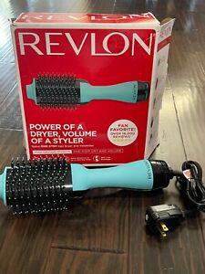 Revlon One-Step Hair Dryer & Volumizer Hot Air Brush RVDR5222MNT MINT Blue