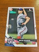 MASON DENABURG 2018 1st BOWMAN DRAFT CARD BD-164 NATIONALS (FIRST ROOKIE)