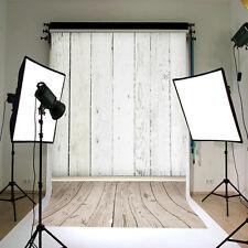Neu Weiß Wand Fotohintergrund Hintergrund Foto Studio Holzfussboden Backdrops