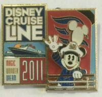 Mickey Mouse Disney Cruise LIne Ship DCL 3d pin 2011  W