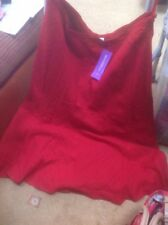 "👀❤️New Look Inspire Size 20 Dark Red Linen Blend Lined Skirt - Length 32""🌺BNWT"