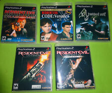 EMPTY CASES!  Resident Evil 4 Outbreak File #1 2 Dead Aim Sony PlayStation 2 PS2