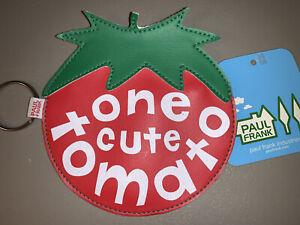 One Cute Tomato Paul Frank Vintage Coin Purse New with tags Vegetable Veggie Bag