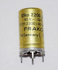 10 PIECES FRAKO EFZR 2200uF 40V ELECTROLYTIC CAPACITOR