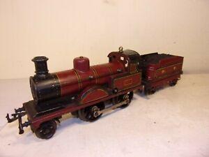Bing,Germany,gauge1- Midland Railway 2-4-0 loco+tender-c/w=superb/unboxd c1903