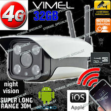 4G Security Camera GSM Wireless Alarm Farm System Night IP CCTV Remote View  3G