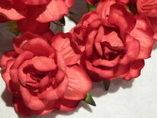 10 handmade RED Mulberry Paper ROSES 40mm 1st Wedding Paper Anniversary Gift