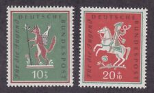 Germany B360-61 MNH 1958 Hunter from the Palatinate & Fox Stole the Goose Set