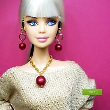 S794 Silkstone Barbie Fashion Royalty Doll Jewelry Jewellery pink /& black