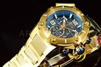 19532 Invicta Speedway XL VIPER Teal Blue Gold Plated Chronograph Swiss SS Watch