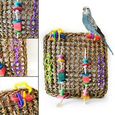 New listing Parrot Pure Natural Straw Climbing Nets Parrot Toy Bird Toy Climbing Toy 30*30Cm