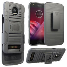 Shockproof Rugged Stand Holster Case Belt Clip Cover For Motorola Moto Z3/Play