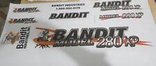 Brush Bandit Wood Chipper Model 280xp Decal kit
