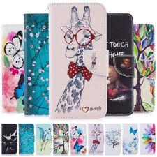 Para Samsung S10 S9 S8 A7 2018 Pintura Plus Cuero Abatible Billetera Estuche Cubierta de libro