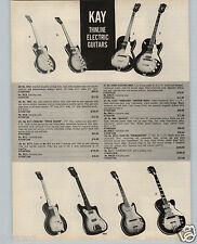 1963 PAPER AD 4 PG Kay Elecric Guitar Country Mandolins Amplifiers DeArmond